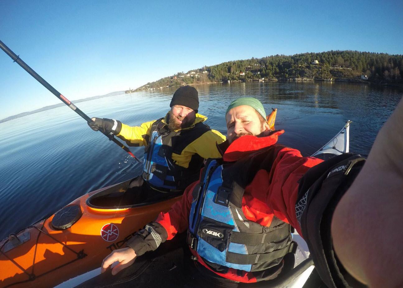 Padletur i havkajakk på Oslofjorden